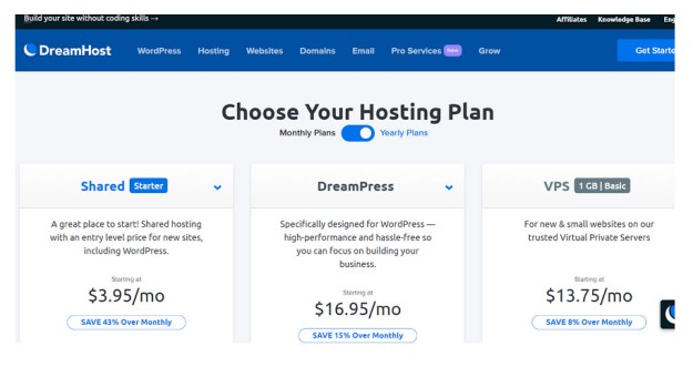 DH Web Hosting Plans